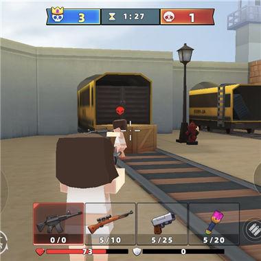 《混乱大枪战》3D对战射击微信小游戏 8人小型吃鸡赛