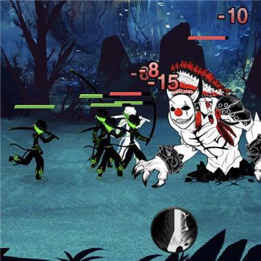 《火柴人冲突》暗黑风格另类塔防微信小游戏