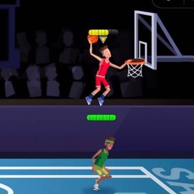 超燃的体育竞技类微信好运3D《单挑篮球》