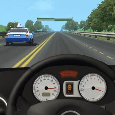 模拟驾驶类微信好运3D《天天超车》