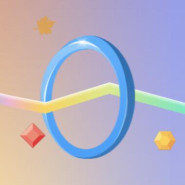 考技巧的动作挑战类微信小游戏《一圈到底》