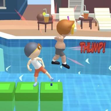 超魔性的水上乐园微信小游戏《水上推人》